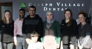 Syrian Family with Guelph Village Dental Team